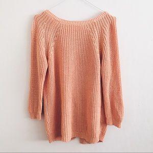 Zara Knit Orange Open Back Sweater